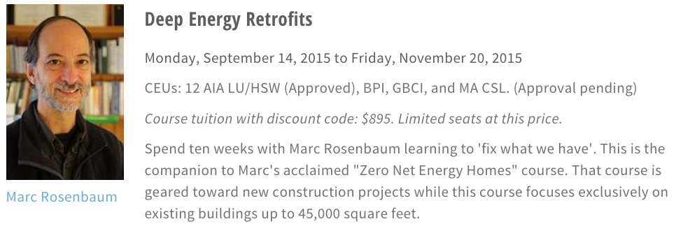 Learn to perform your own Deep Energy Retrofit with Marc Rosenbaum